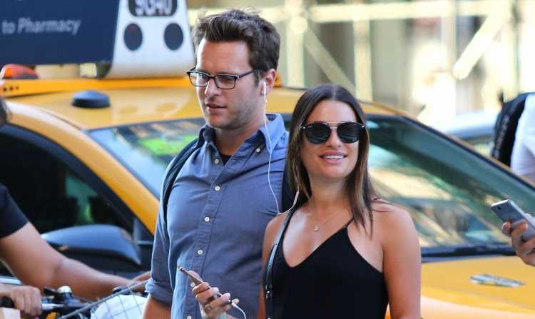 Lea Michele & BFF Jonathan Groff Dance Down the Street in New York City