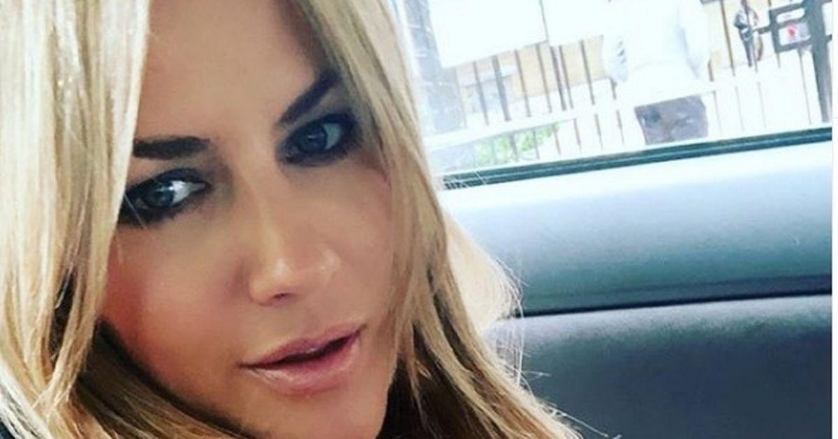 Love Island host Caroline Flack shows off her sleek new blonde hairdo