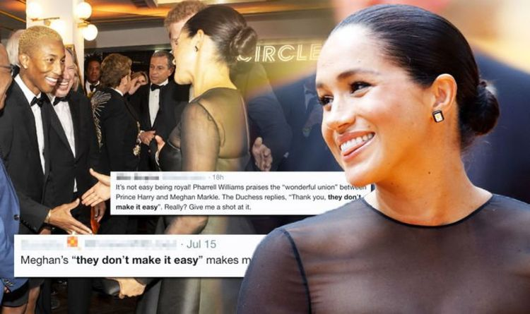 Meghan sparks raging debate after telling Pharrell Williams 'they don't make it easy'