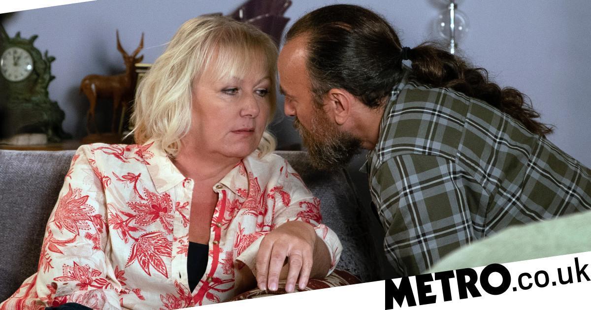 Eileen confronts Jan over his dark secret in Corrie tonight