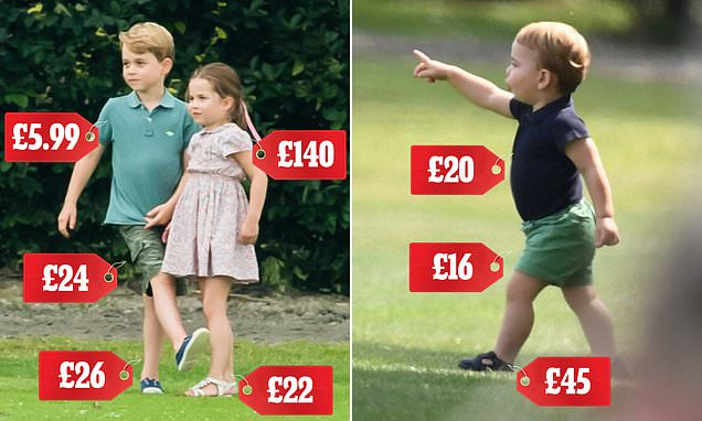 Prince George sports old H&M polo top and Gap shorts at polo