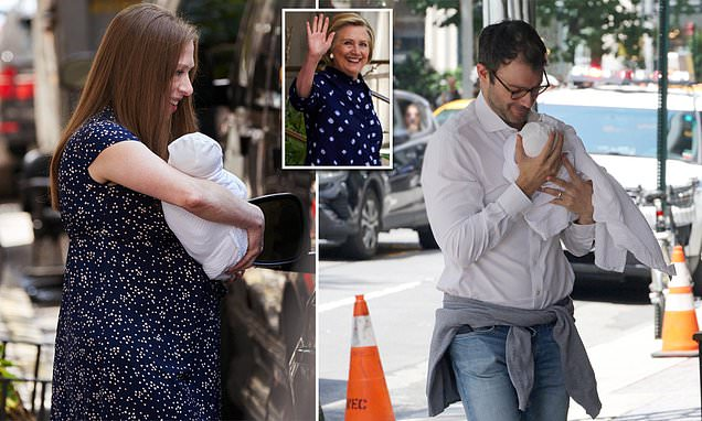 Chelsea Clinton heads home from the hospital with baby Jasper