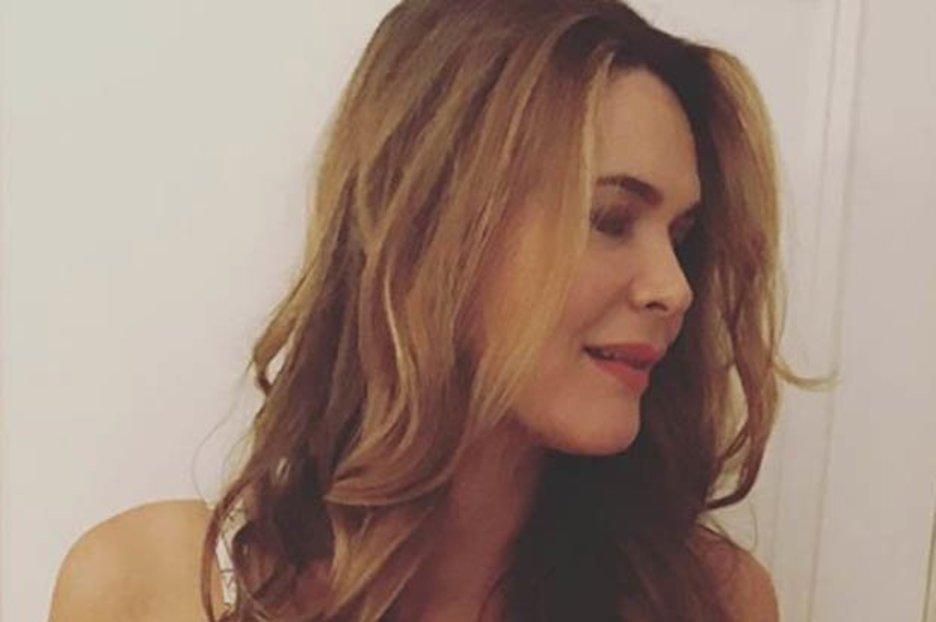 Piers Morgan's wife Celia Walden teases sideboob in red-hot display