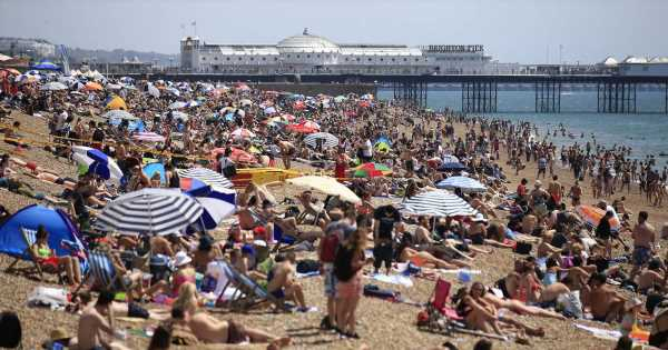 Britain to sizzle in 27C weekend Atlantic Azores heatwave