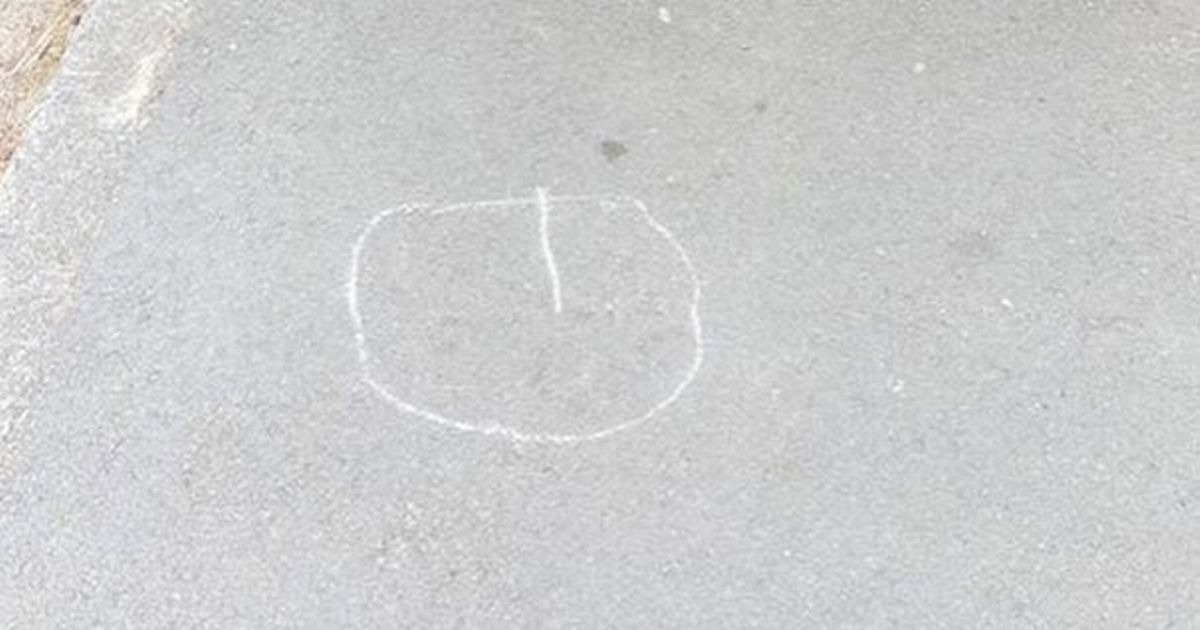 Woman freaked out by chalk 'thief' marks near home – but one mum solves mystery