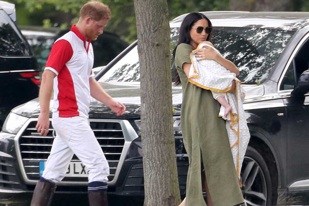 Meghan Markle steps out with Archie for Prince Harry's polo match