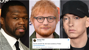 "The Tweets About Ed Sheeran, Eminem, & 50 Cent's ""Remember the Name"" All Say 1 Thing"