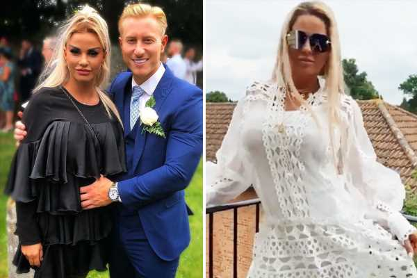 Katie Price sparks rumours she's pregnant as boyfriend Kris poses with his hand on her stomach