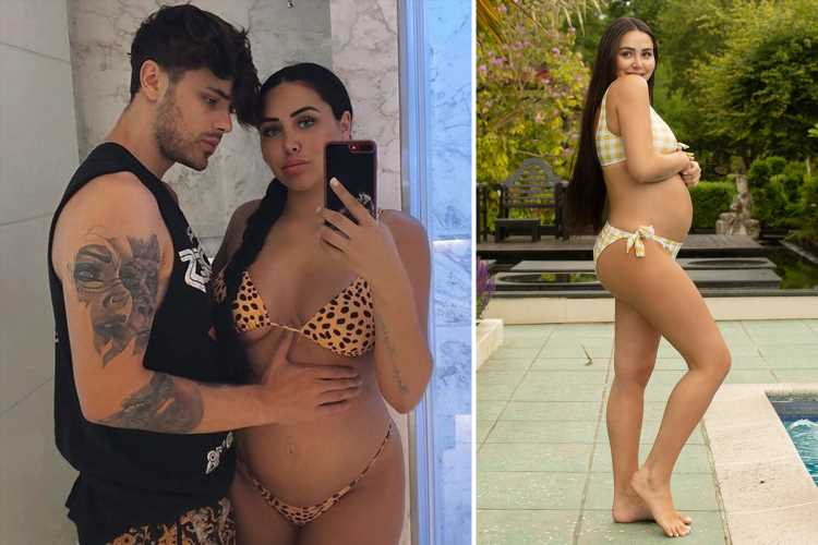 Marnie Simpson can't stop chomping on bath sponges as she reveals her bizarre pregnancy craving – The Sun