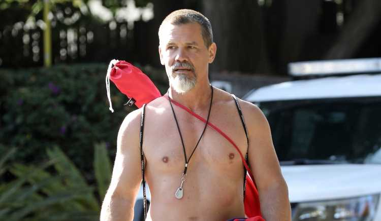 Josh Brolin Goes Shirtless During His Fourth of July Celebrations