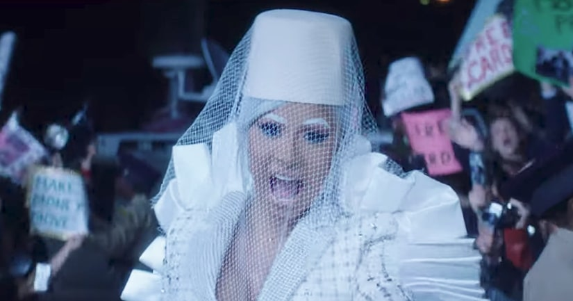 Cardi B Goes Fully Nude, Stands Trial in New Music Video for 'Press'