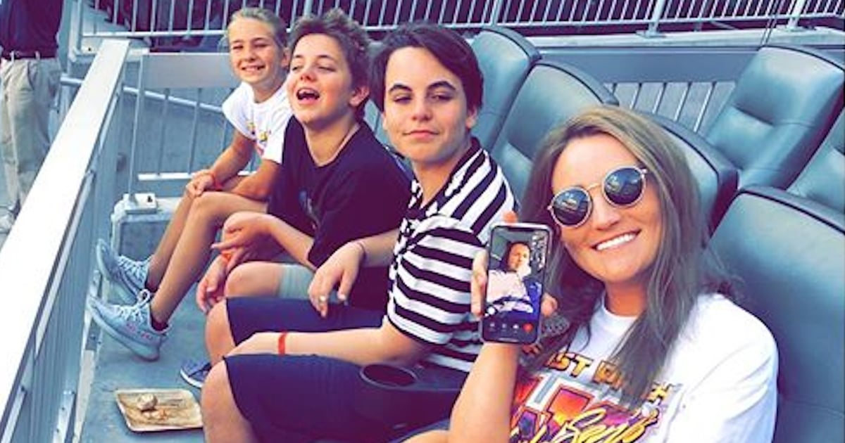 Britney Spears's Sons Have a Family Day With Their Aunt Jamie at a Baseball Game