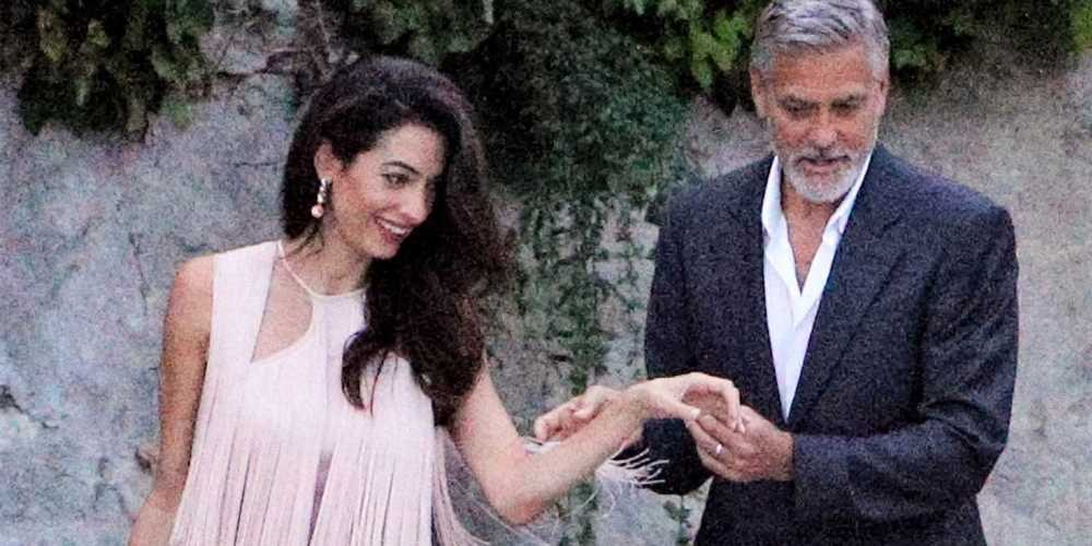 Amal Clooney Wore the Most Charming Fringe Dress in Italy