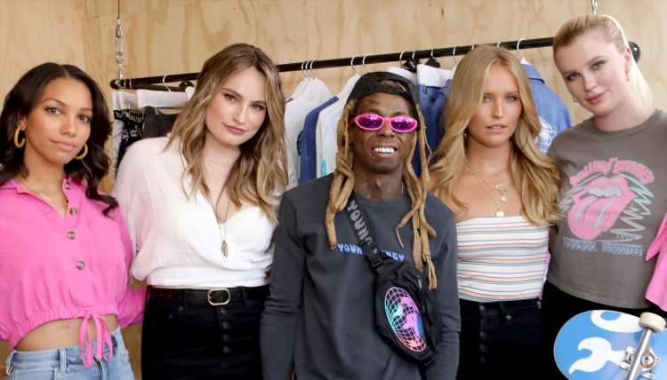 Lil Wayne Gets Support from Hollywood's New Generation at American Eagle Launch Event!