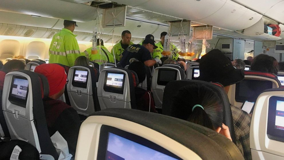 Passengers violently ejected from seats on turbulent flight