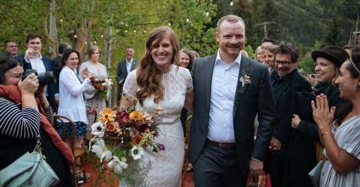 A 'Ghost Town' Wedding With 47 Guests, and Maybe a Few Others