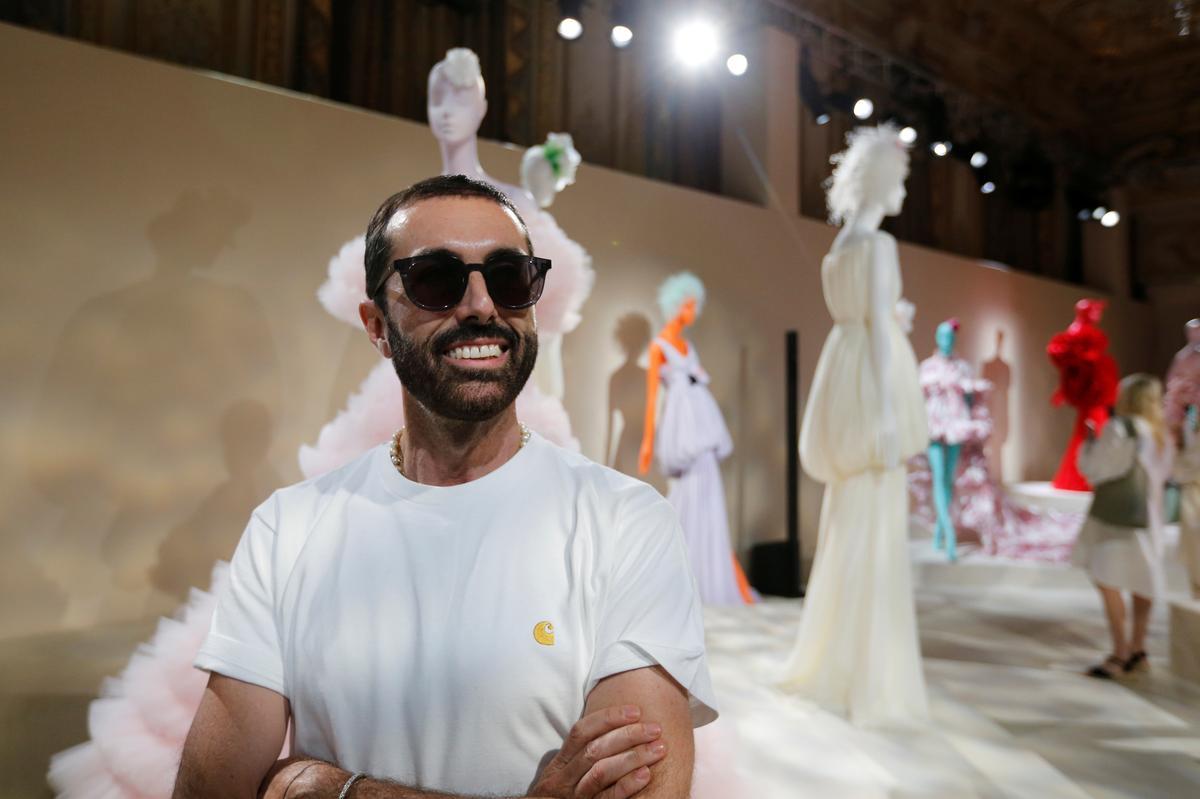 Giambattista Valli skips the runway for floral fashion foray