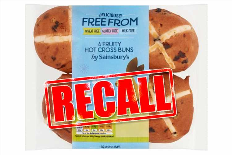 Sainsbury's recalls hot cross buns over fears they will make you sick