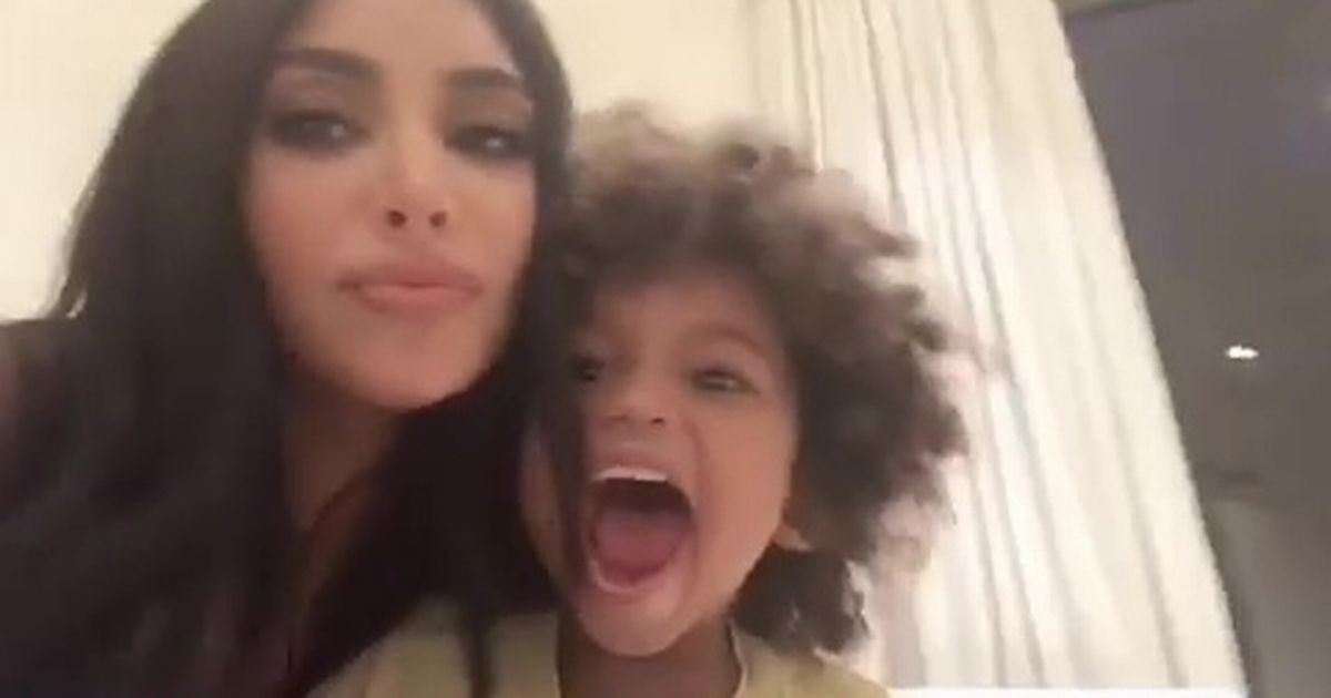 Kim Kardashian 'loses control' of kids in rare and chaotic home video