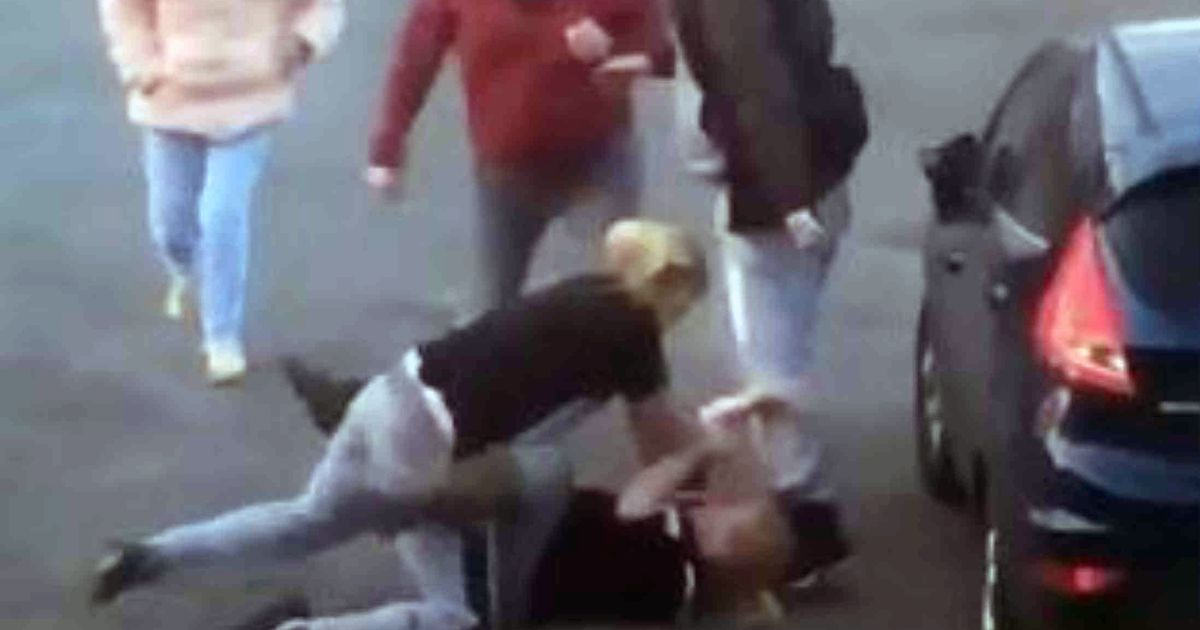 'Mother and daughter' come to blows as they fight in middle of housing estate