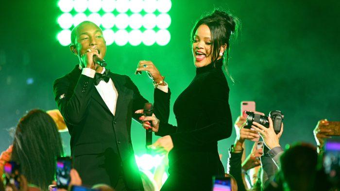 Rihanna Sings (Briefly), Pharrell and DJ Khaled Rock the Mic at Star-Studded Diamond Ball