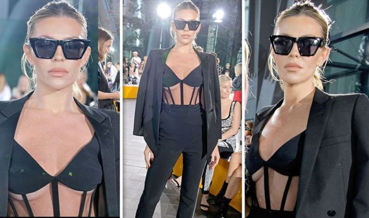 Abbey Clancy: Strictly winner's assets spill out of jaw-dropping London Fashion Week look