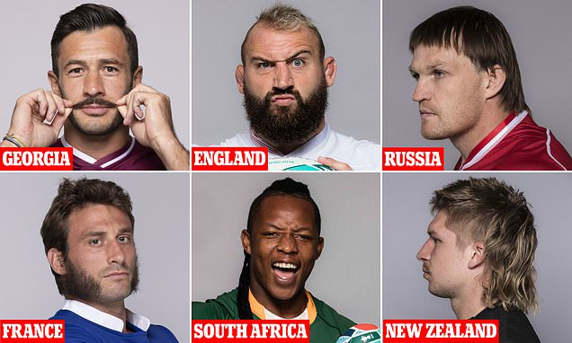 Players show off VERY striking hairdos ahead of the Rugby World Cup