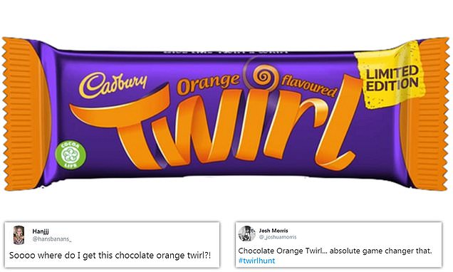 Cadbury fans go wild as the orange-flavoured Twirl finally launches