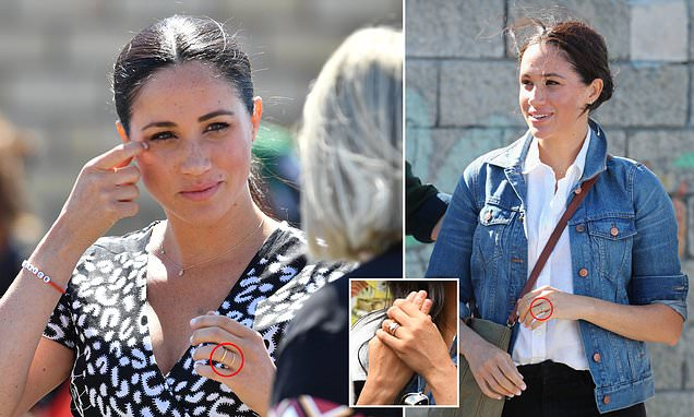 Meghan Markle removes engagement ring for South African township visit