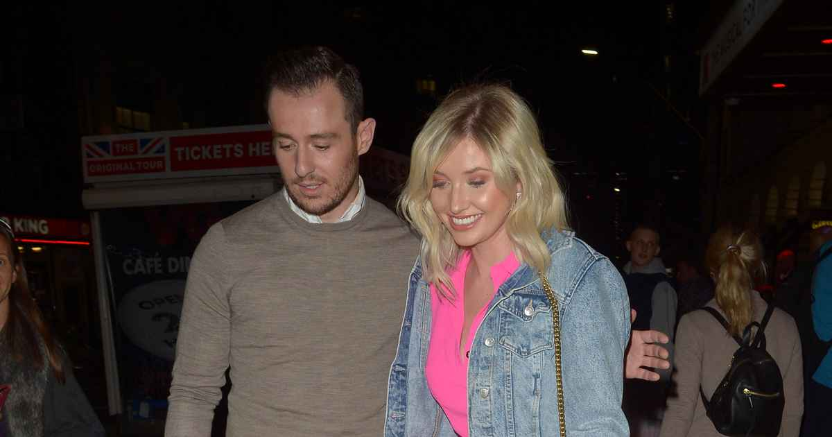 Love Island's Amy Hart gets affectionate kiss from actor Dale Evans as they attend Big The Musical in London together