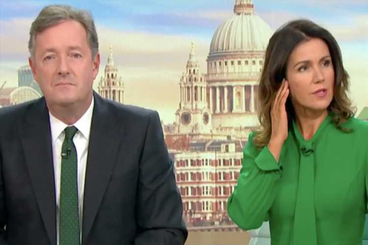 Susanna Reid and Piers Morgan fall silent after technical glitch on Good Morning Britain – The Sun