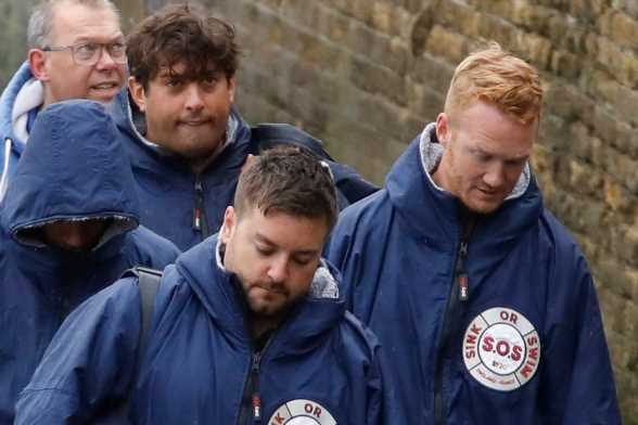 James Argent and Sink Or Swim celebs fail to swim the Channel after they're hauled out of the water with just five miles to go due to bad weather – The Sun