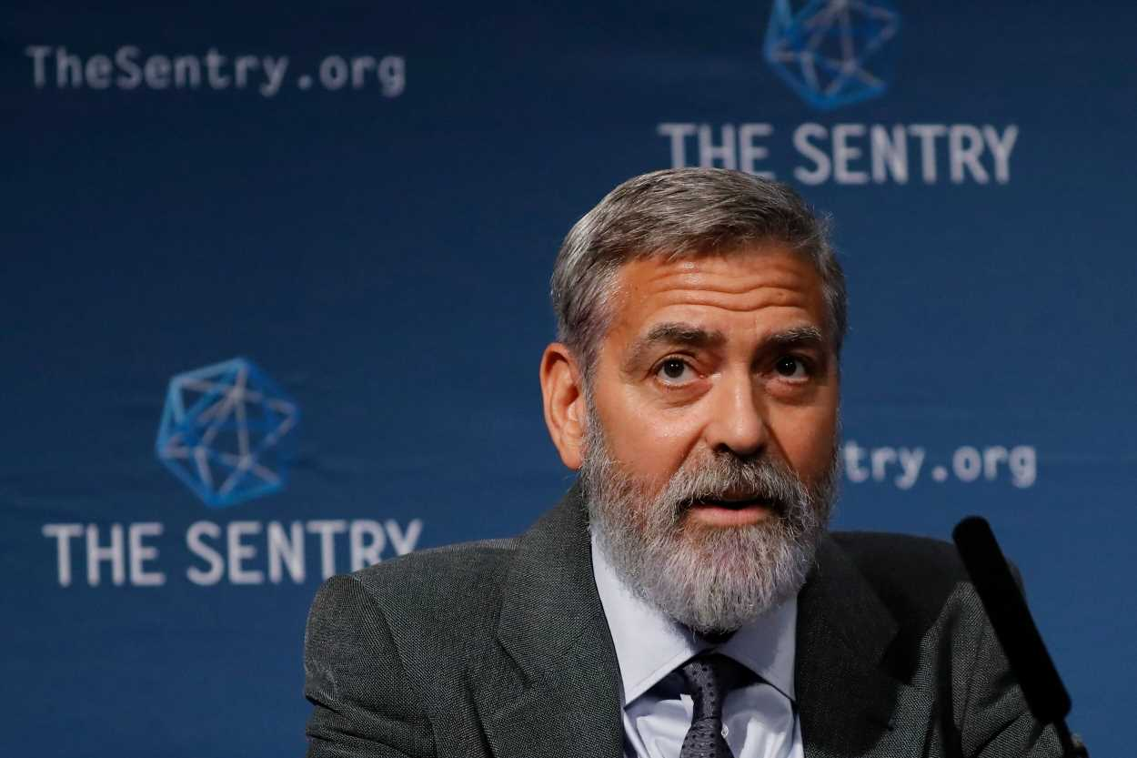 George Clooney looked dapper as he sported a new, longer beard in London: Pics!