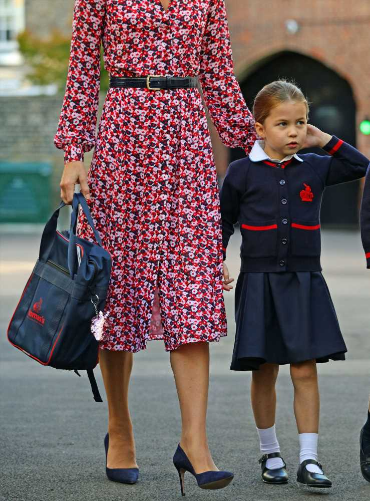 How Princess Charlotte Added a Personal Touch to Her Backpack for the First Day of School