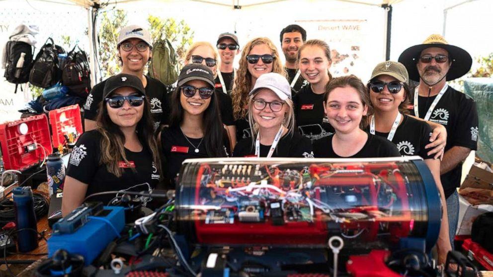 All-female robotics team wins major awards while slashing stereotypes