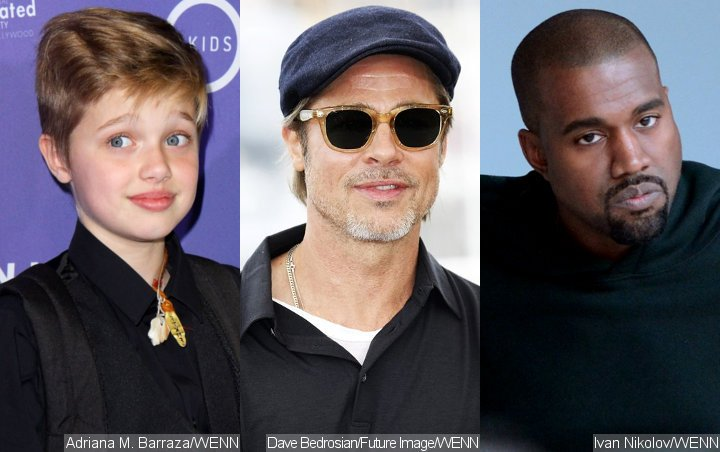 Shiloh Worried About Dad Brad Pitt After He Attends Kanye West's Sunday Service