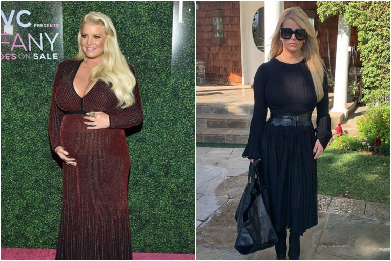Jessica Simpson loses 45kg in six months after weighing 108kg during pregnancy