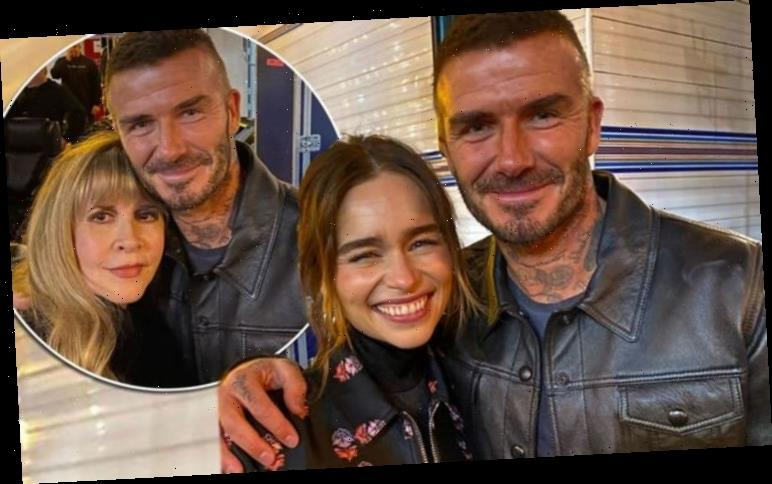David Beckham in 'star stuck' moment with Game of Thrones' Emilia Clarke