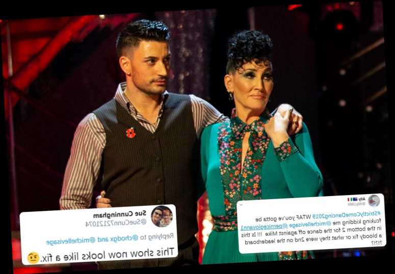 Strictly fans slam show as a fix after Michelle Visage lands in the bottom two as Mike Bushell is finally eliminated