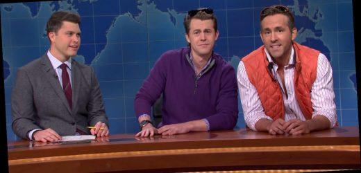 Colin Jost Calls Scarlett Johansson's Ex Ryan Reynolds His Best Friend on 'SNL'