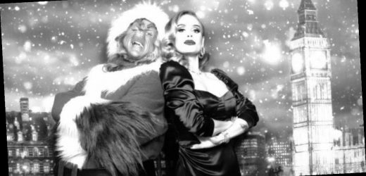 Adele looks unrecognisable and oozes glamour in festive snap after weight loss
