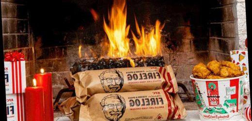 Walmart is now serving KFC's fried chicken-scented firelog