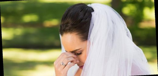 Bride ruins £12k dress at wedding when she 'gambled on fart and lost in big way'