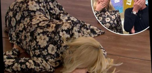 Holly Willoughby collapses on the floor as This Morning's Spin To Win competition goes wrong AGAIN