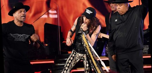 Aerosmith Reunite With Run-D.M.C. For 'Walk This Way' at the Grammys