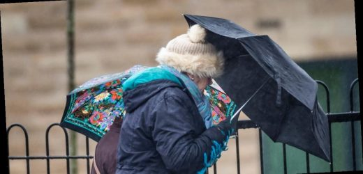 Widespread rain across UK this weekend before Britain is battered by 60mph gales