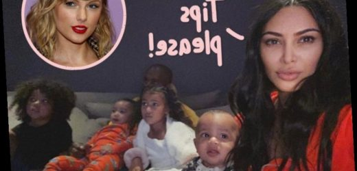 Kim Kardashian Asks For Kid-Friendly Quarantine Tips — But Gets EPICLY Trolled By Taylor Swift Fans