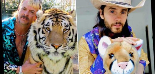 Jared Leto dresses up as Joe Exotic for 'Tiger King' viewing party