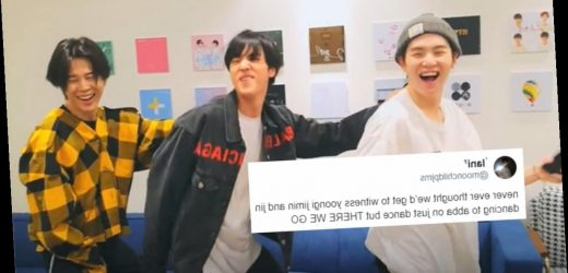 These Videos Of BTS' Jimin, Suga, & Jin Playing Just Dance Are Pure Fire