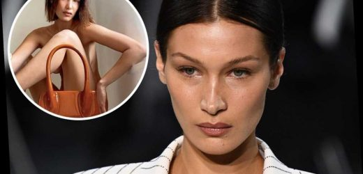 Bella Hadid poses in nothing but a purse for quarantine fashion campaign
